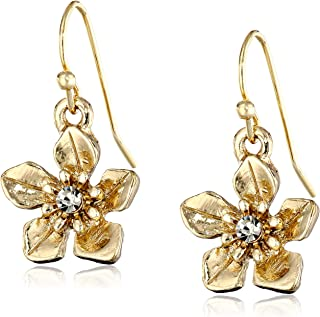 product image for 1928 Jewelry Le Marais Gold-Tone Flower Drop Earrings