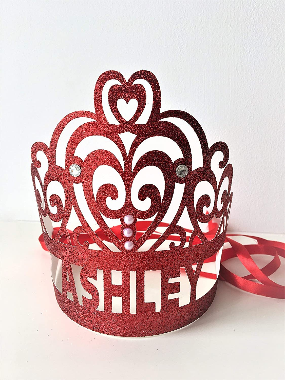 Personalised Glitter Crown Cake Smash Tiaras. Tiara Party Favors Photo Prop Birthday Party