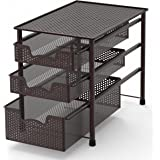 Amazon Com Decobros 2 Tier Mesh Sliding Cabinet Basket