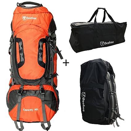 Beefree – Mochila impermeable con 80 litros de capacidad, para senderismo, escalada, trekking