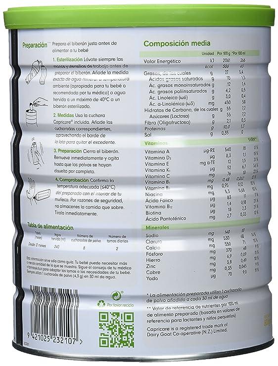 Capricare 3 Leche de Crecimiento a Base de Leche de Cabra - 800 gr: Amazon.es: Alimentación y bebidas