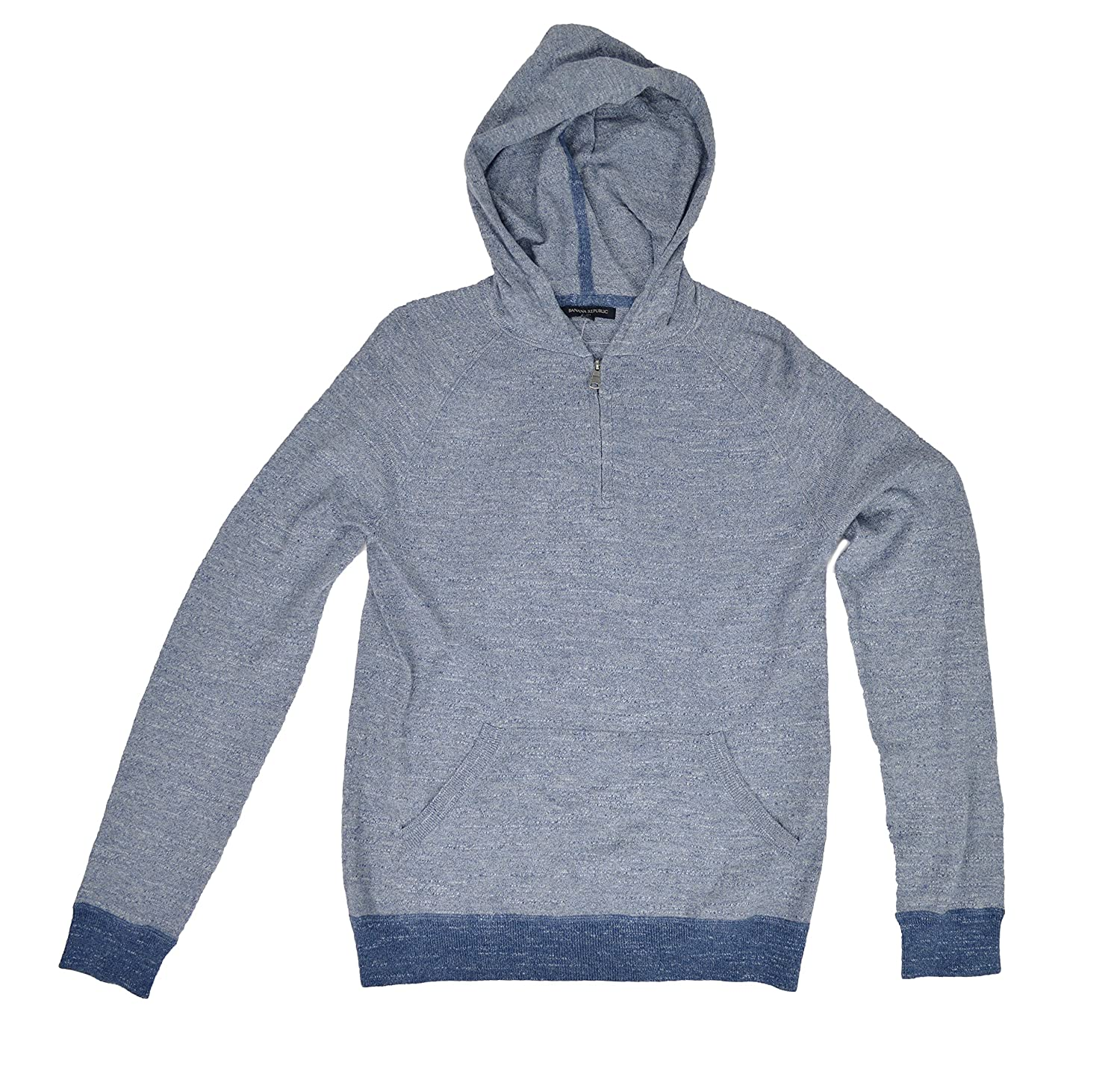 Banana Republic Men's Half Zip Hooded Sweater Gray 80%OFF - www ...