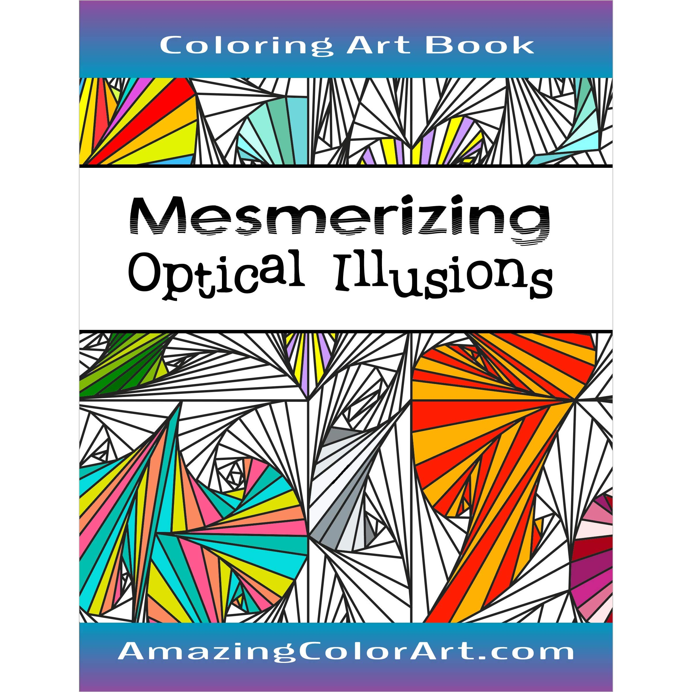 - Amazon.com: Mesmerizing Optical Illusions: Coloring Book For