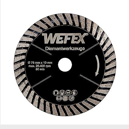 wefex – Disco de diamante turbo de Black Star 75 mm x 10 mm porcelanato azulejos