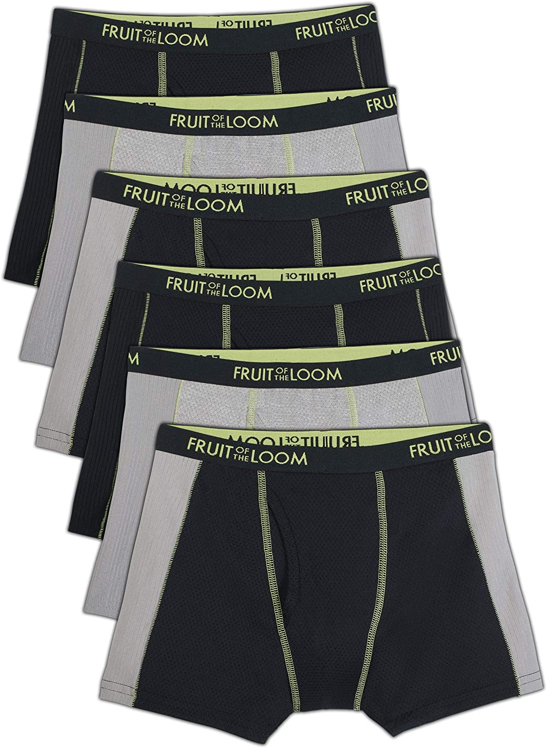 Fruit of the Loom Boys' Cooling Breathable Mesh Boxer Briefs: Clothing
