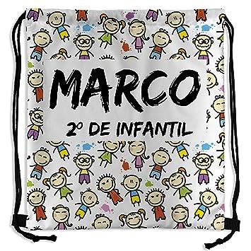 Mochila Saco Personalizada con Nombre. Vuelta al Cole. Varios Diseños. Kids: Amazon.es: Deportes y aire libre