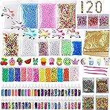 120 Pack Slime Making Kits Supplies,Gold Leaf,Foam Balls,Glitter Shake Jars,Fishbowl Beads,Fruit Slices,Fake Sprinkles…