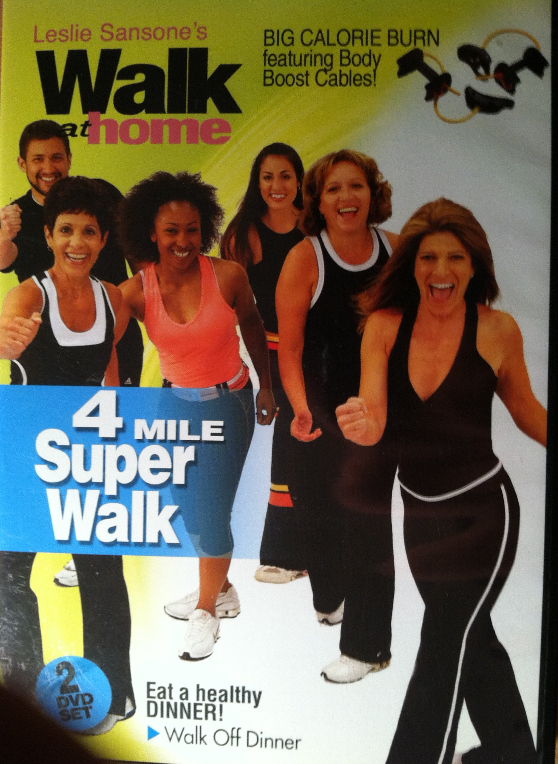 Leslie Sansone's Walk At Home Super Walk. 4 Mile Super Walk. 2 DVD Set