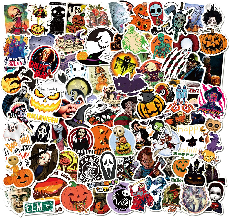 Halloween Laptop Waterproof Sticker Set