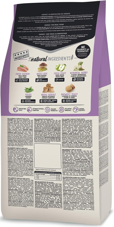 Ownat Classic Sterilized Cat Alimento para Gatos - 1500 gr: Amazon.es: Productos para mascotas
