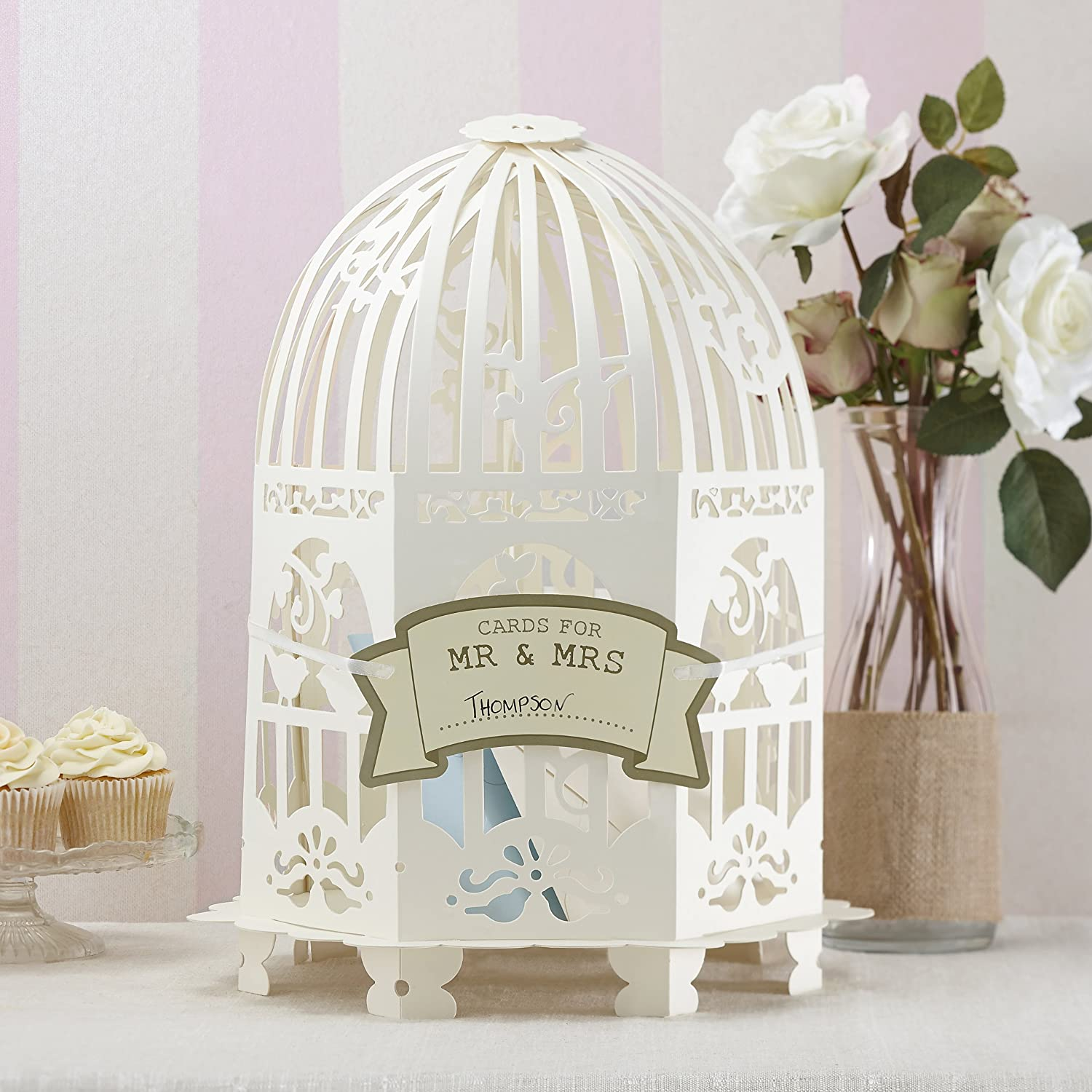 Ginger Ray Ivory Vintage Birdcage Wedding Card Post Box For Weddings & Parties VL-223