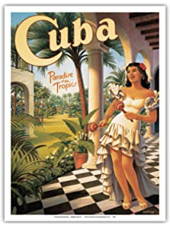 Amazon pacifica island art greetings from samoa samoan pacifica island art cuba paradise of the tropics vintage style world travel poster by m4hsunfo