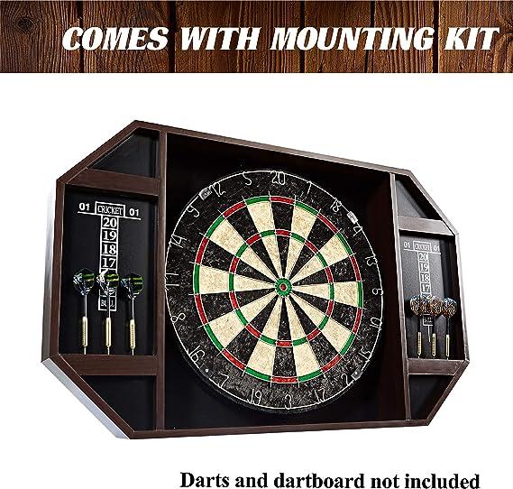 Dark Wood Backboard 2 Scoreboards Rich Led Lighting Barrington