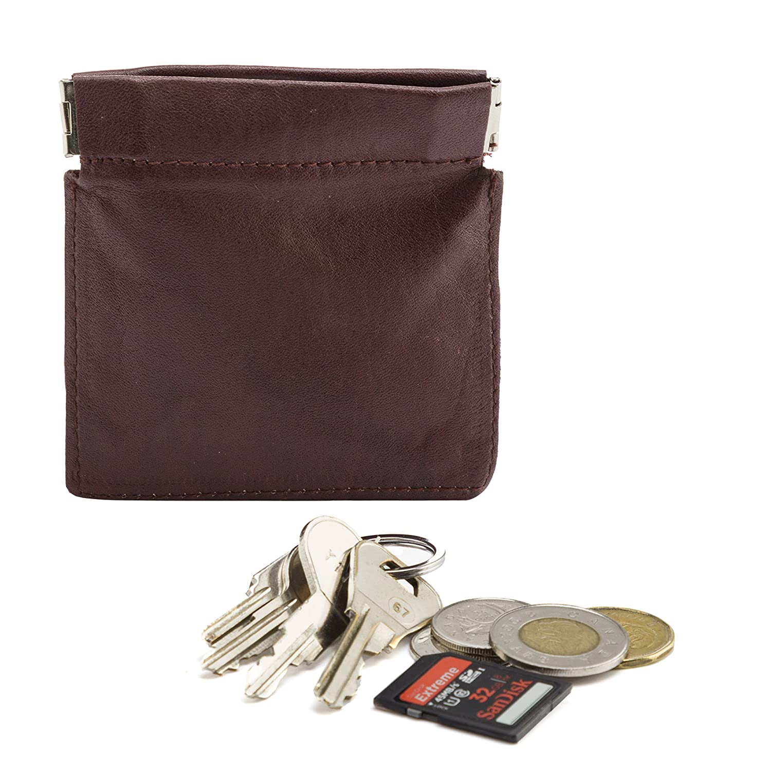 Mens Genuine Leather Coin Pouch Change Purse Holder Wallet SD 015