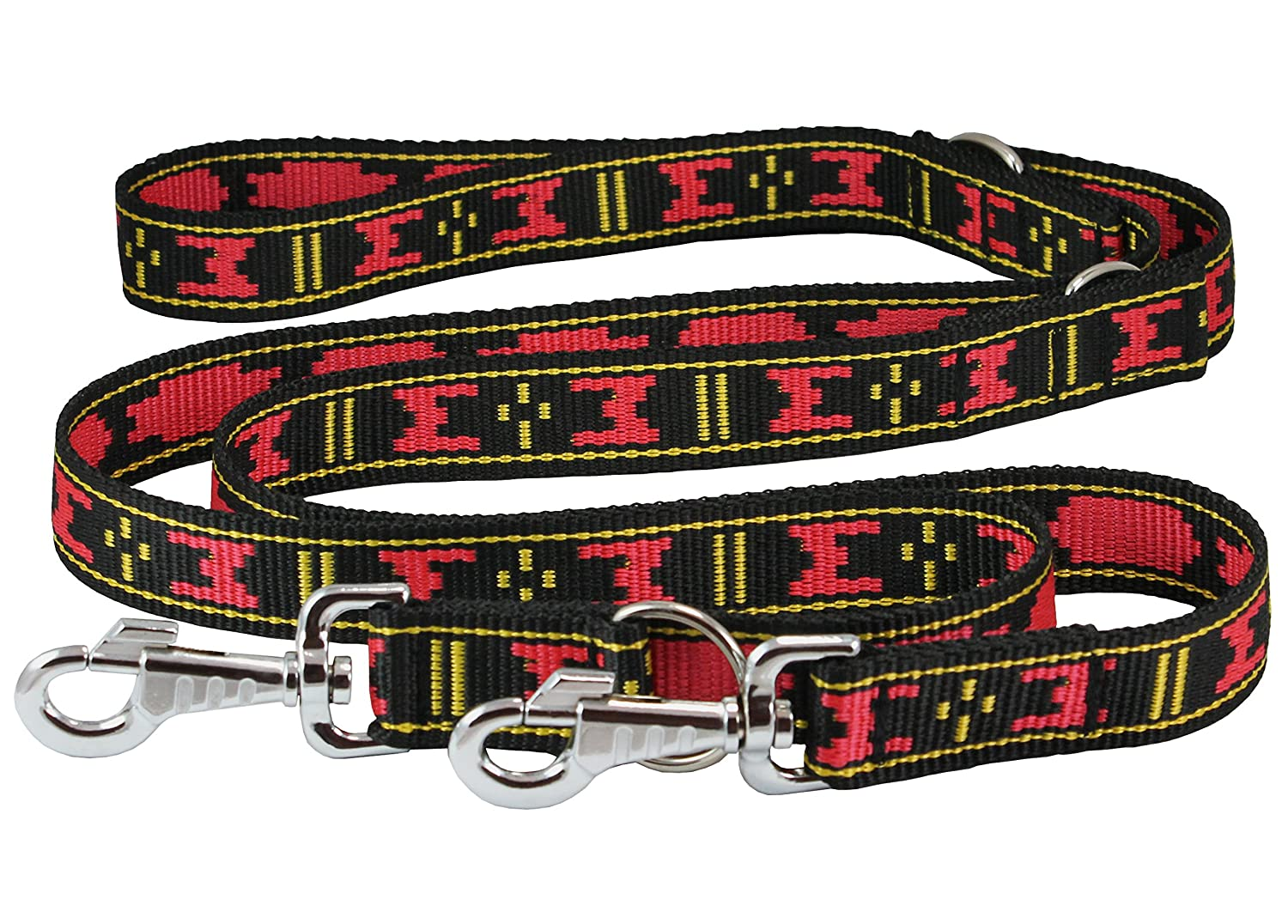 Thick Nylon Multifunctional Euro Dog Leash 1.25  Wide Adjustable 44 -70  Long Lead For Large XLarge Breeds