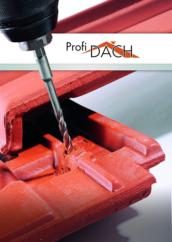 Alpen 25200500100 Profi Tungsten Carbide Roof Tile Drill Bit with 1//4-Inch Hexagonal Shank Silver 5 mm