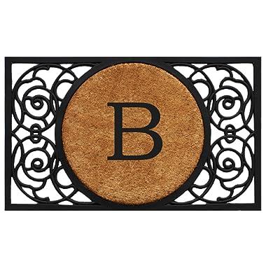 Home & More 180031830B Armada Circle Monogram Doormat 18  X 30  (Letter B)
