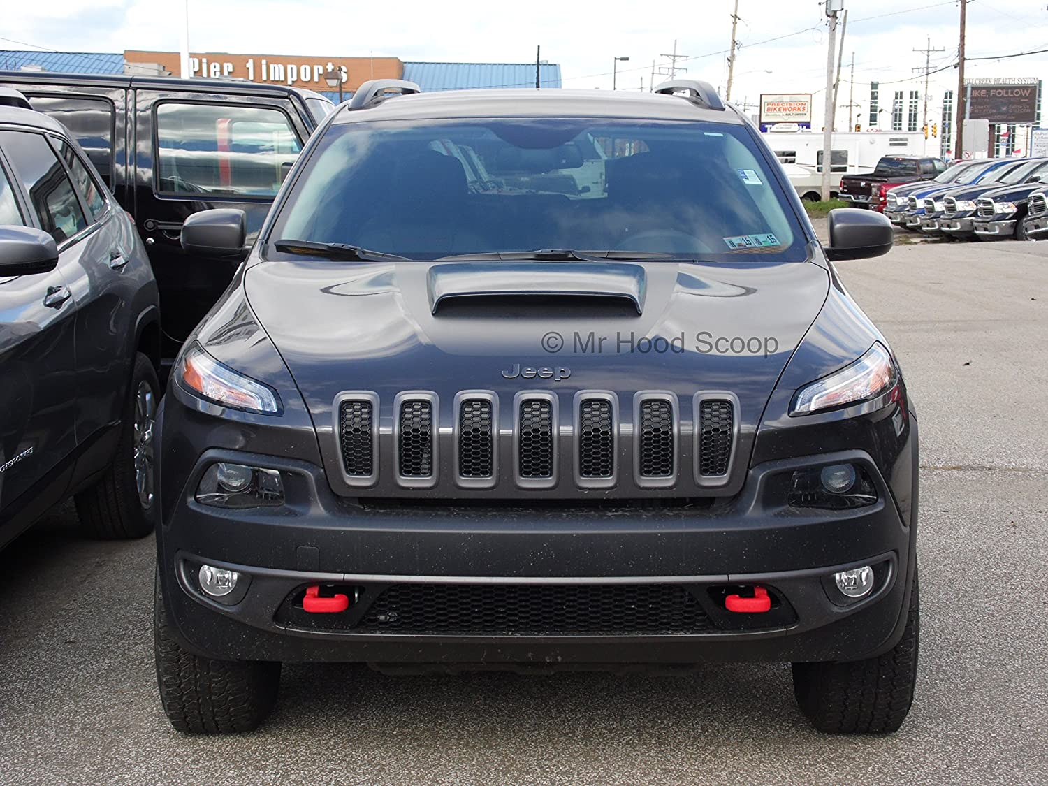Xtreme Autosport Unpainted Hood Scoop Compatible with 2014-2017 Jeep Cherokee and Trailhawk by MrHoodScoop HS003