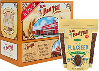 product image for Bob's Red Mill Organic Raw Whole Brown Flaxseed, 13-ounce (Pack of 6)