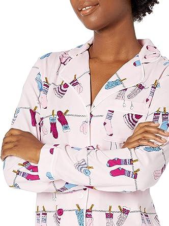 Mae Women/'s Notch Collar Short Set Large Loose Flamingos