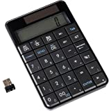 Ultron UN-1 101194 -  Teclado numérico inalámbrico con la función de calculadora de bolsillo  (2.4 GHz, bloque numérico integrado, panel solar), color negro