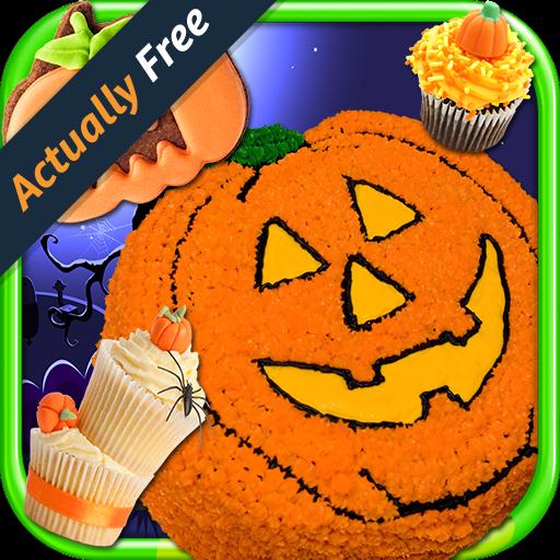 Halloween Cupcakes Cooking Games (Halloween Cake Maker – Make & Bake Kids Candy Dessert Kitchen Cooking Food Restaurant FREE Game)
