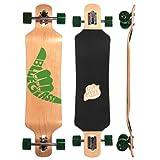 "Blueglass Green Hangloose 10"" x 40"" - 28.5"" Wheelbase Drop Down Drop Through Longboard Complete"