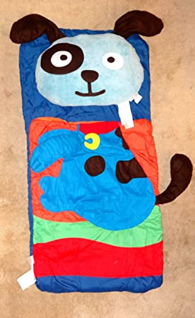 Animal Fun Northpoint Kids Sleeping Bag Pillow Set Blue-Puppy 18 x22