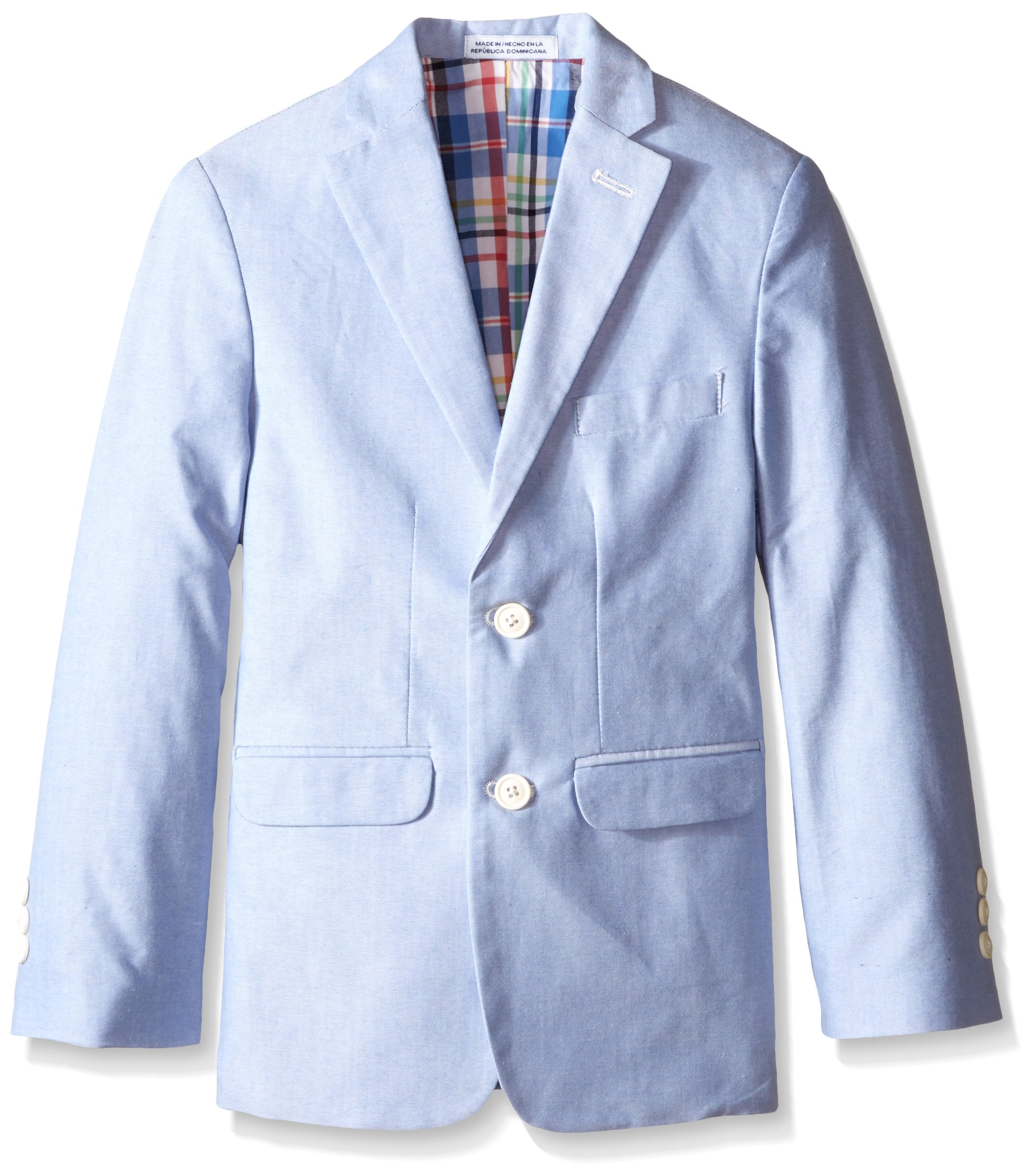Izod Big Boys' Chambray Jacket, Medium Blue, 18 Regular