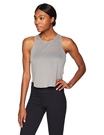 bae3cfcfdb Amazon.com  Splendid Women s Studio Yoga Workout Athletic Mesh Tank Top   Clothing
