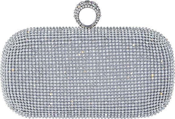 Uplord Womens Mini Jewelry Box Lock Chain Handle Sequins Square Package Dinner//Wedding//Prom Handbag