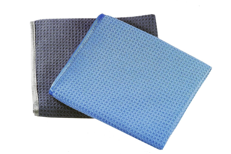 Cloth 1: silver grey cloth with silver satin edge Glart 47TG Premium drying cloth Cloth 2: green cloth with green satin edge Set of 2 70x40 cm