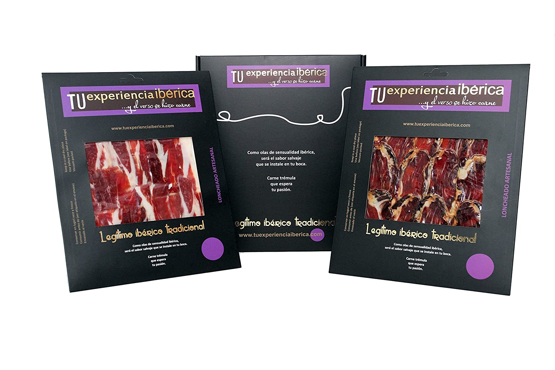 Pack Duo: Jamón de cebo natural 50%Ibérico (100 g)y Caña de lomo ...