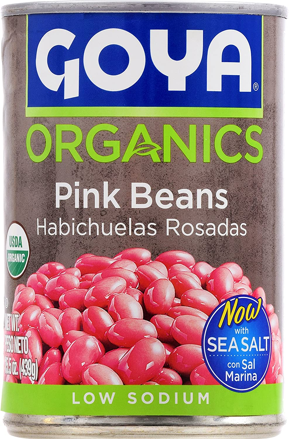 Amazon.com : Goya Foods Organic Beans, Pink, 15.5 Ounce (Pack of 24) : Grocery & Gourmet Food