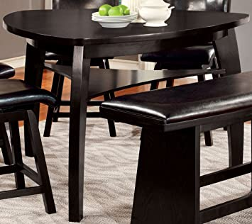 Amazon Com Furniture Of America Morley Pub Dining Table Black Tables