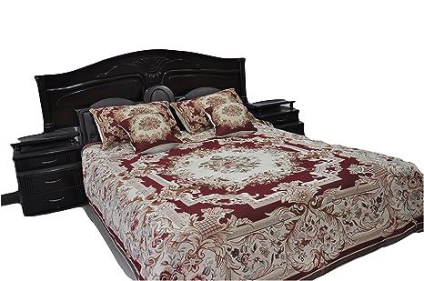 Amazon.com: tache 3 A 5 piezas Chenilla tela rosa roja ...