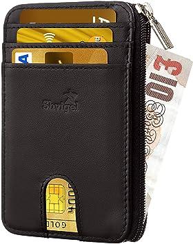 179d138a782 Shvigel Credit Card Holder Men's Wallet - RFID Blocking - Genuine Leather -  Slim Wallet for