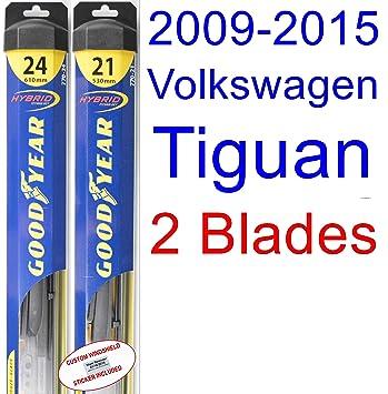 2009 - 2015 Volkswagen Tiguan hoja de limpiaparabrisas de repuesto Set/Kit (Goodyear limpiaparabrisas blades-hybrid) (2010,2011,2012,2013,2014): Amazon.es: ...