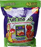 YumEarth Organics Gluten-Free Fruit Snacks with Real Fruit Juice, 40 Count