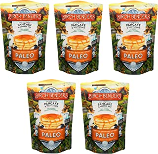 product image for Paleo Pancake and Waffle Mix by Birch Benders, Made with Cassava, Coconut, Almond Flour, 12 Ounce (Pack of 5)
