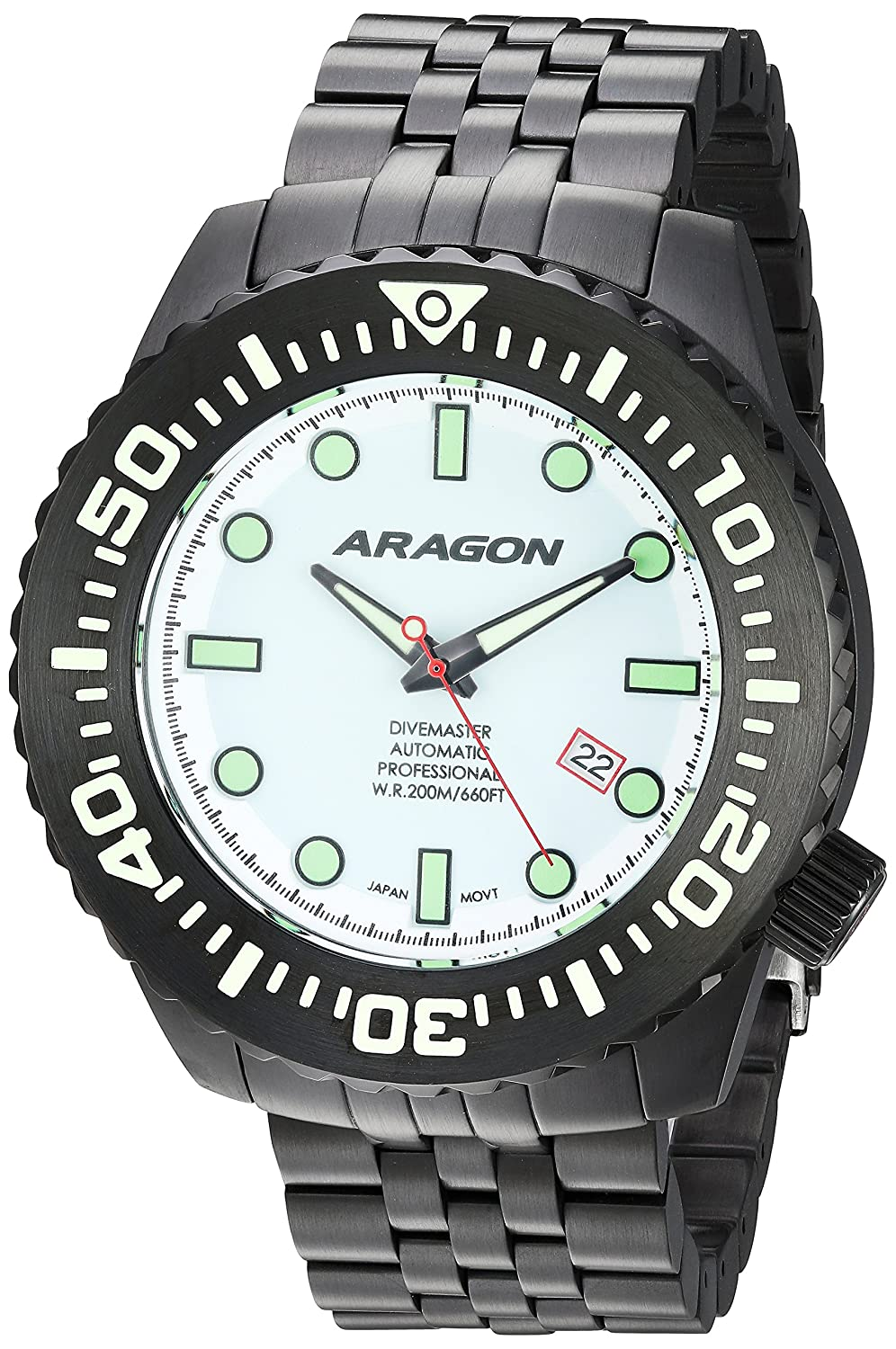 Image of Sport Watches ARAGON A253WHT Divemaster EVO 50mm Automatic