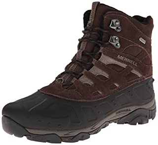 Merrell Mens Moab Polar Waterproof High Rise Hiking Boots, Espresso