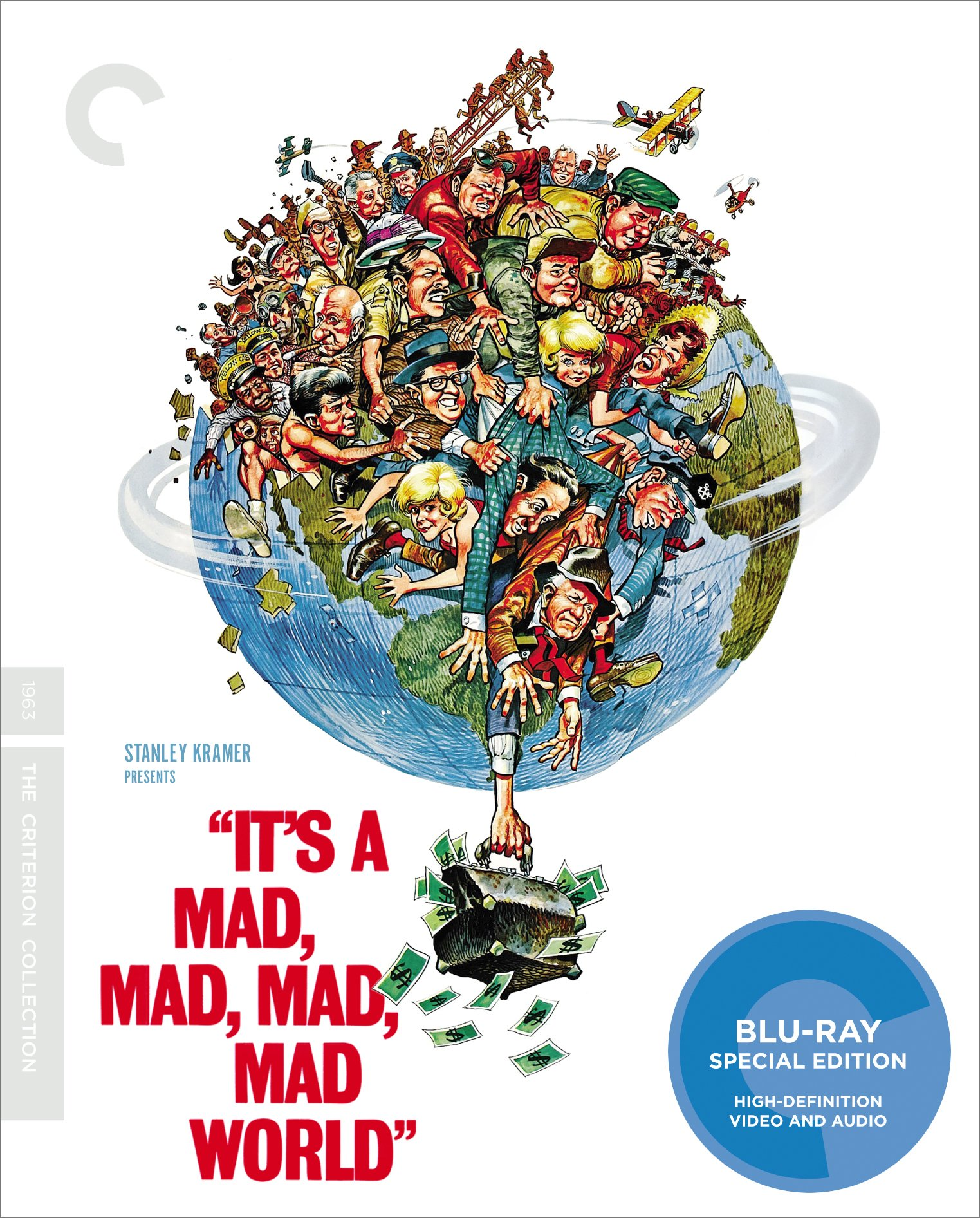 Blu-ray : It's a Mad, Mad, Mad, Mad World (Criterion Collection) (Special Edition, Restored, 4K Mastering, AC-3, Digital Theater System)