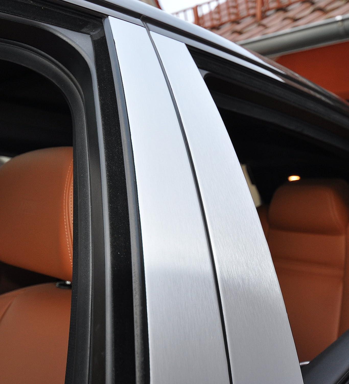 6x Alu geb/ürstet silber T/ürzierleisten Verkleidung B S/äule T/ürs/äule passend f/ür Ihr Fahrzeug