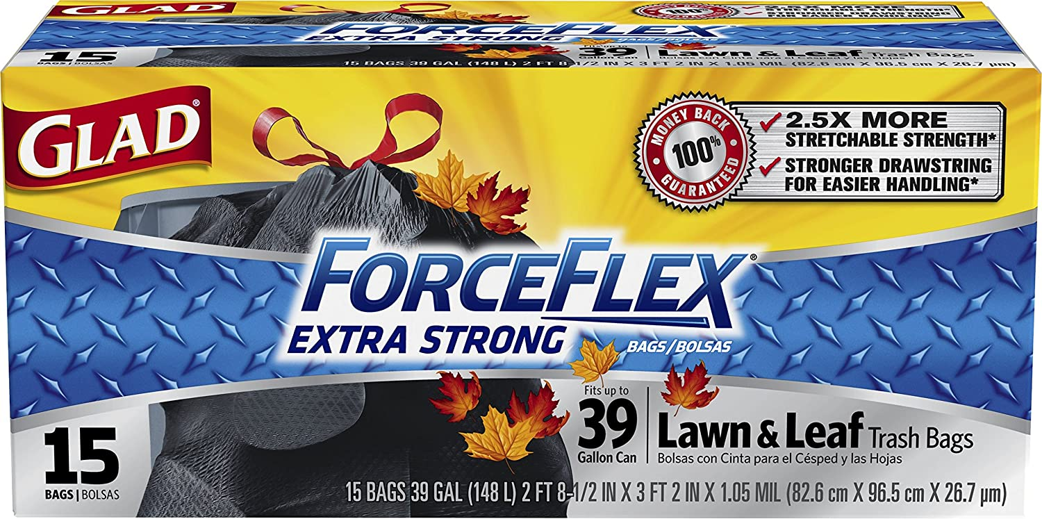 Amazon.com: Glad ForceFlex Extra Strong Lawn and Leaf ...