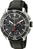Alpina Men's AL-372LBG4V6 Seastrong Diver 300 Chronograph Big Date Analog Display Swiss Quartz Black Watch