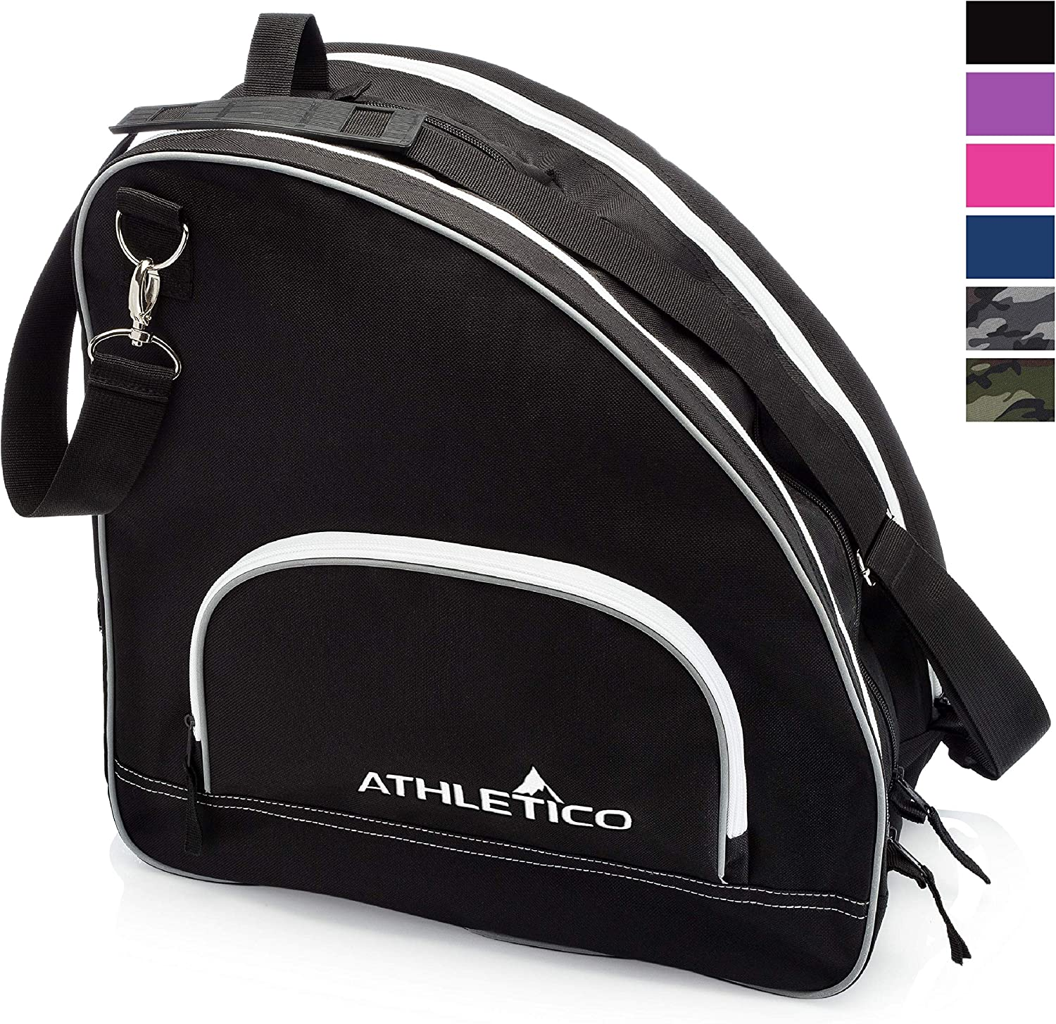 Athletico Ice & Inline Skate Bag - Premium Bag to Carry Ice Skates, Roller Skates, Inline Skates for Both Kids and Adults (Black) : Sports & Outdoors