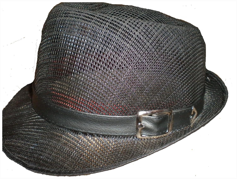 Krung Thai Ska Porkpie Sombrero Negro cl/ásico Varios tama/ños Peque/ño - XL