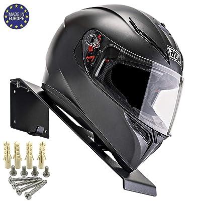 BESTUNT Helmet Display   Mount for Motorcycle Holder Shelf Rack Storage Fixation   Mount on Wall (black): Automotive