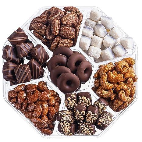 Cesta de chocolate y tuercas de regalo de Nut Haven Gourmet ...